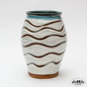 Stentøjsvase med porcelænsmønster